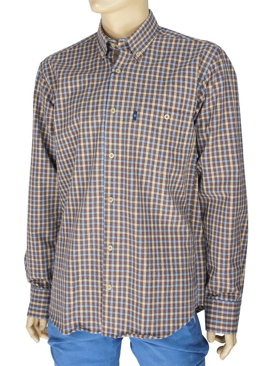 Чоловіча сорочка Negredo 3000#87 indigo 100% бавовна