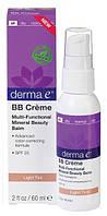 BB крем светлого оттенка для лица с солнцезащитным фактором SPF 25, Derma E
