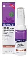 BB крем для лица среднего оттенка с солнцезащитным фактором SPF 25, Derma E