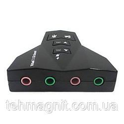 USB Звуковая карта PD560 7.1 Channel ноутбук/комп два канала (раздвоен аудио- микрофон- выходы)