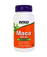 Мака, Now Foods Maca, 500 мг, 100 капсул