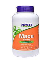 Мака, Now Foods Maca, 500 мг, 250 капсул