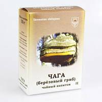 Чага, березовый гриб чайный напиток, 50 г, коробочка