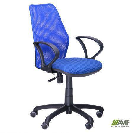 Кресло Oxi/АМФ-4 сиденье Квадро-20/спинка Сетка синяя, фото 2