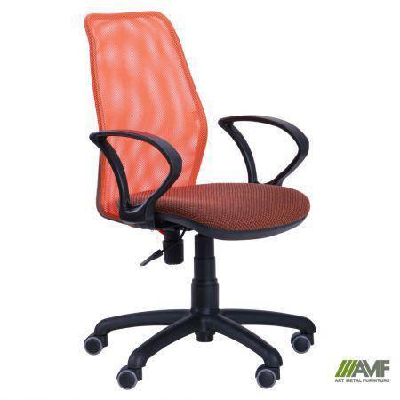 Кресло Oxi/АМФ-4 сиденье Поинт-70/спинка Сетка оранжевая, фото 2