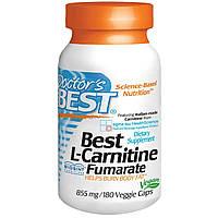 Карнитин Фумарат, L-Carnitine Fumarate, Doctor's Best, 855 мг, 180 капсул