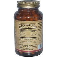 Aргинин орнитин, L-Arginine L-Ornithine, Solgar, 500/250 мг, 100 капсул