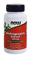 Андографис экстракт, Andrographis, Now Foods, 400 мг, 90 кап.