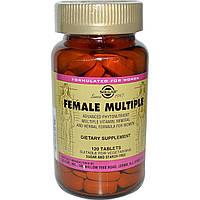 Витамины для женщин, Female Multiple, Solgar, 120 таблеток