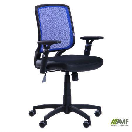 Кресло Онлайн сиденье Сетка черная/спинка Сетка синяя