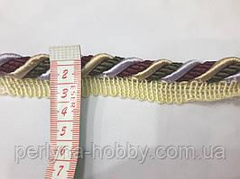 Шнур кант декоративный витой Шнур вшивний меблевий 12 мм кольоровий