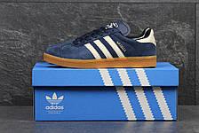 Кроссовки Adidas Gazelle замшевые,темно синие с белым 44,46р, фото 2