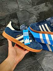 Кроссовки Adidas Gazelle замшевые,темно синие с белым 44,46р, фото 3