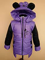 Куртка - жилетка для девочки (Дисней) фиолет