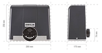 Комплект приводу для відкатних воріт FAAC GENIUS Blizzard 500 C, фото 1