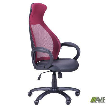 Кресло Cobra черный, сиденье Неаполь N-20/спинка Сетка бордовая
