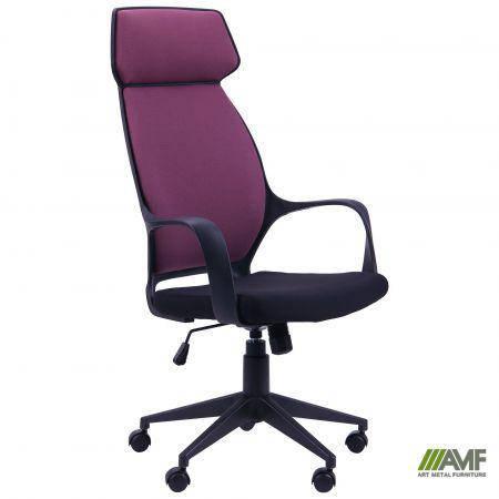 Кресло Concept черный, тк.пурпурный, фото 2