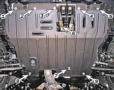 Защита двигателя Mitsubishi Lancer (1996-2003) Полигон-Авто