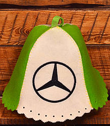 """Шапка для бани и сауны Комбо """"Mercedes"""""""