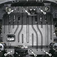 Защита двигателя Mitsubishi Outlander XL (2007-2012) Полигон-Авто