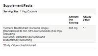 Куркумин (Curcumin), Now Foods, 60 капсул