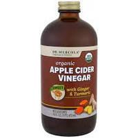 Яблочный уксус, Apple Cider Vinegar, Dr. Mercola, 473 мл