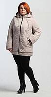 Куртка на силиконе бежевая