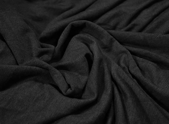 Футер двунитка темно- серая меланж (180 см), фото 2