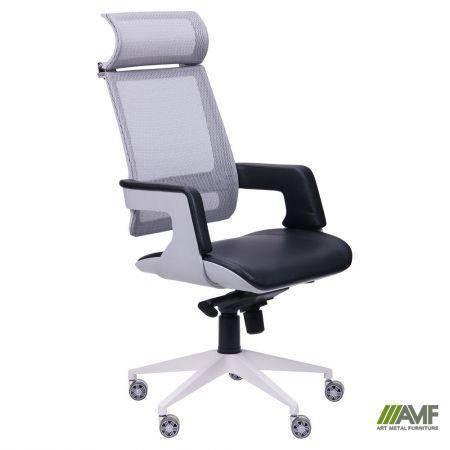 Кресло Axon каркас белый, сетка черная, фото 2
