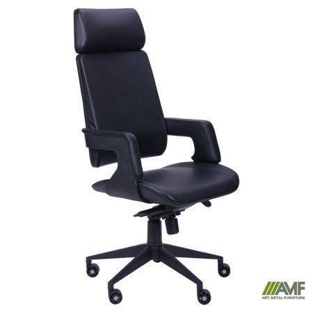 Кресло Axon каркас черный, к/з черный, фото 2