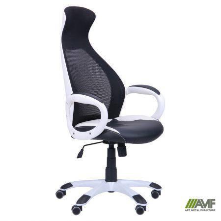 Кресло Cobra белый, сиденье Неаполь N-20, Неаполь N-50/спинка Сетка черная, фото 2