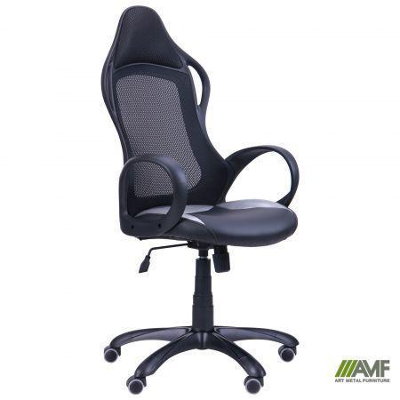 Кресло Nitro черный, сиденье Неаполь N-20, Жемчуг-07/спинка Сетка черная