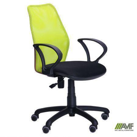 Кресло Oxi/АМФ-4 сиденье Сетка черная/спинка Сетка лайм, фото 2