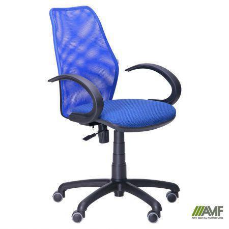 Кресло Oxi/АМФ-5 сиденье Квадро-20/спинка Сетка синяя, фото 2