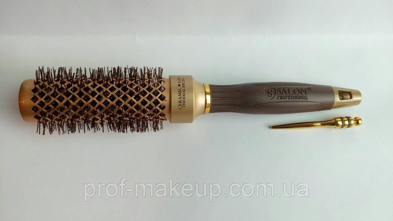 """Расческа - брашинг """"Salon"""", керамика,диаметром 35 мм"""