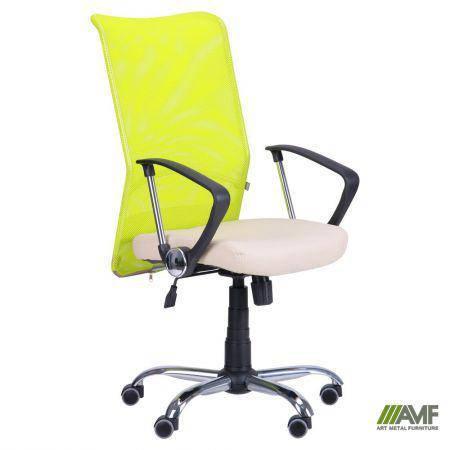 Кресло АЭРО HB сиденье Неаполь N-17/спинка Сетка лайм, фото 2