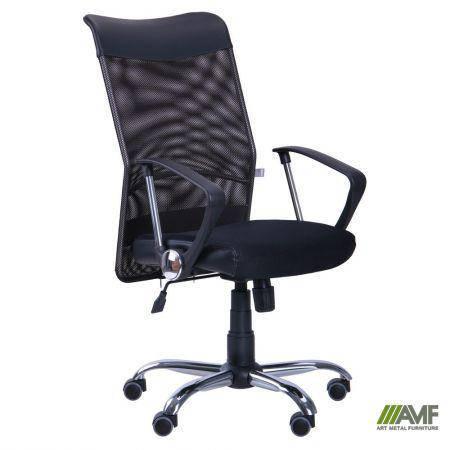 Кресло АЭРО HB Line сиденье Сетка черная,Неаполь N-20/спинка Сетка черная, вставка Неаполь N-20, фото 2