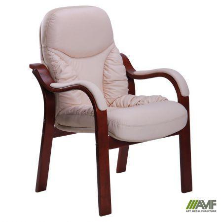 Кресло Буффало CF коньяк Кожа Люкс комбинированная Ваниль