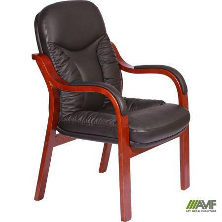 Кресло Буффало CF, кожа черная (6231-D BLACK LEATHER+PVC)
