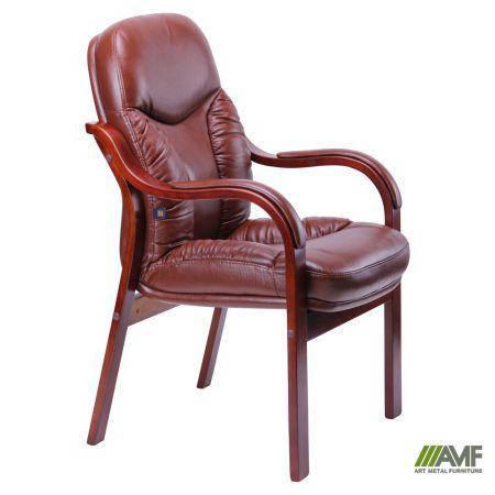 Кресло Буффало CF, кожа коричневая (6231-D BROWN LEATHER+PVC), фото 2