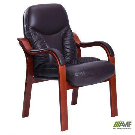 Кресло Буффало CF коньяк Кожа Люкс комбинированная Темно коричневая, фото 2
