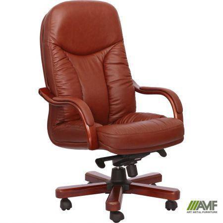 Кресло Буффало НВ, кожа коричневая (6231-B BROWN LEATHER+PVC), фото 2