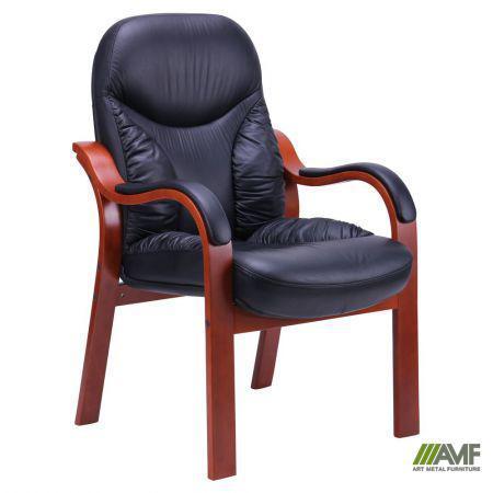 Кресло Буффало CF коньяк Кожа Люкс комбинированная Черная