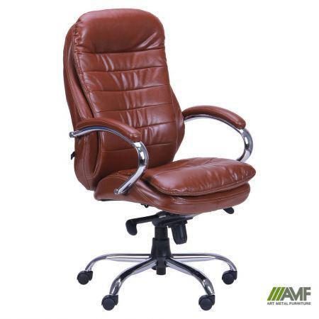 Кресло Валенсия HB кожзам коричневый (CS-618E PU BROWN), фото 2
