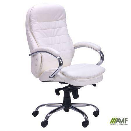 Кресло Валенсия HB кожзам белый (CS-618E PU WHITE), фото 2