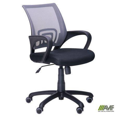 Кресло Веб сиденье Сетка черная/спинка Сетка серая, фото 2