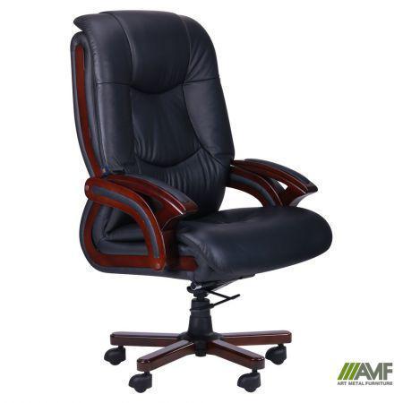 Кресло Ванкувер, кожа черная (625-B+PVC)