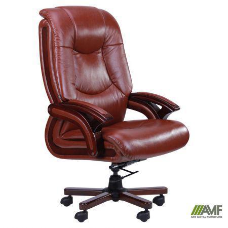 Кресло Ванкувер, кожа коричневая (625-B+PVC)