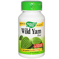 Дикий ямс, Wild Yam, Nature's Way, 425 мг, 100 капсул