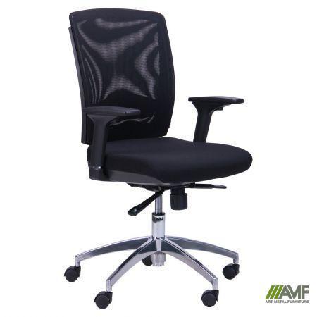 Кресло Канари чёрный/сетка чёрная (X-7)